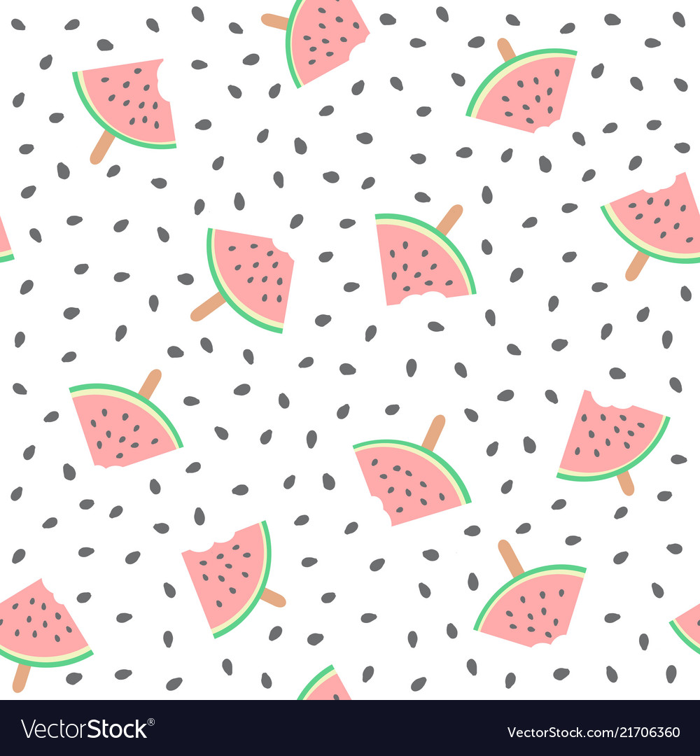 Seamless watermelons pattern background