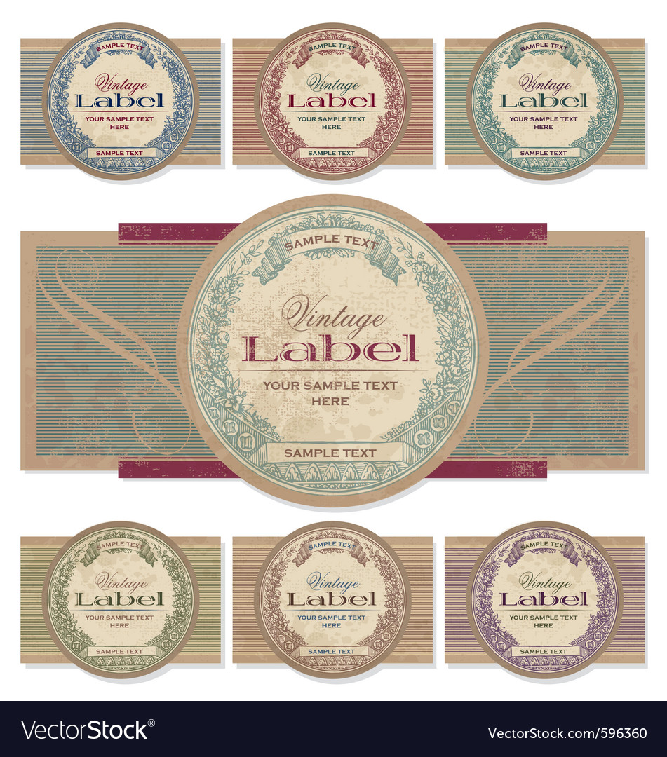 Vintage labels set