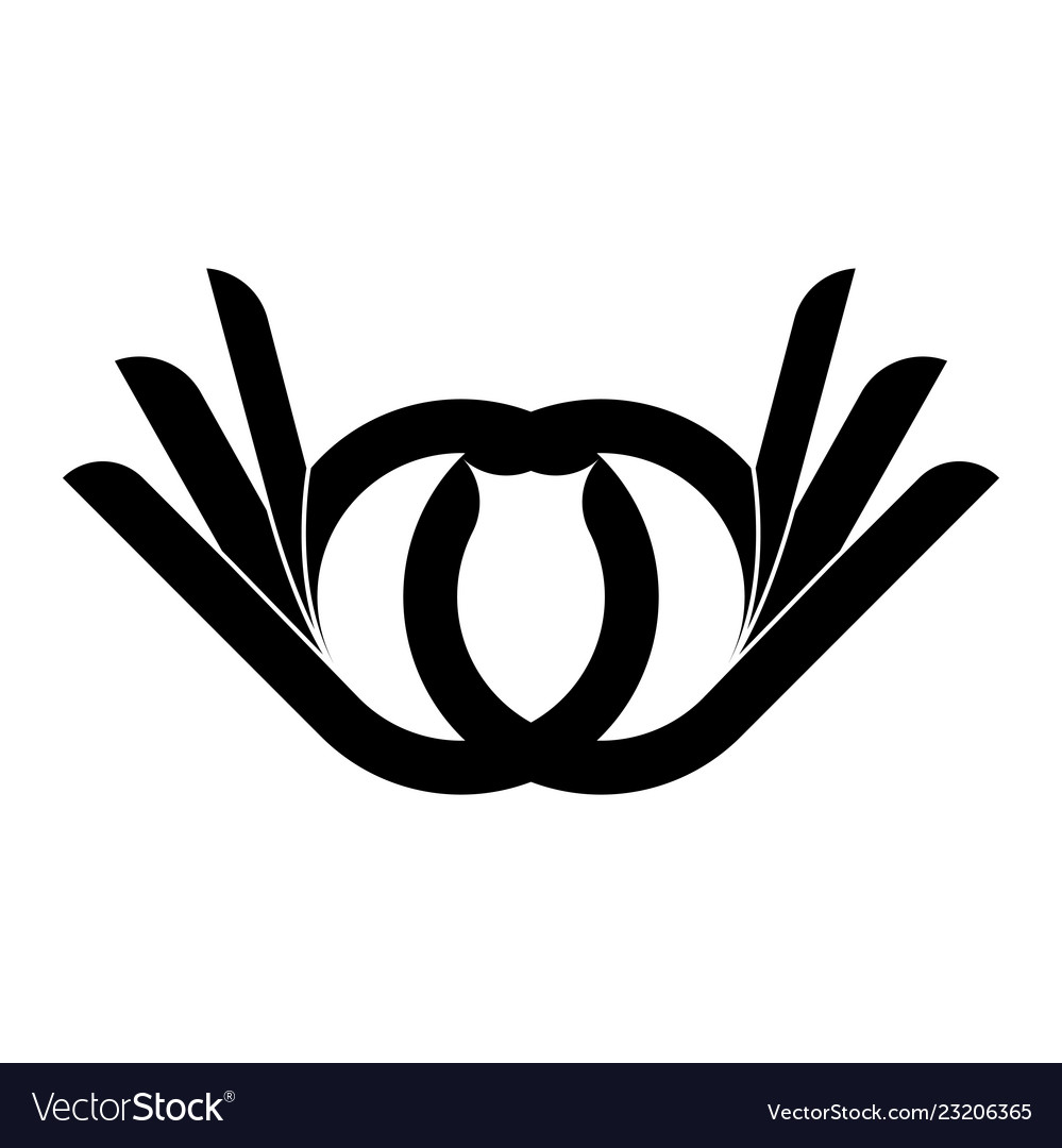 Abstract two hand finger logo template design and