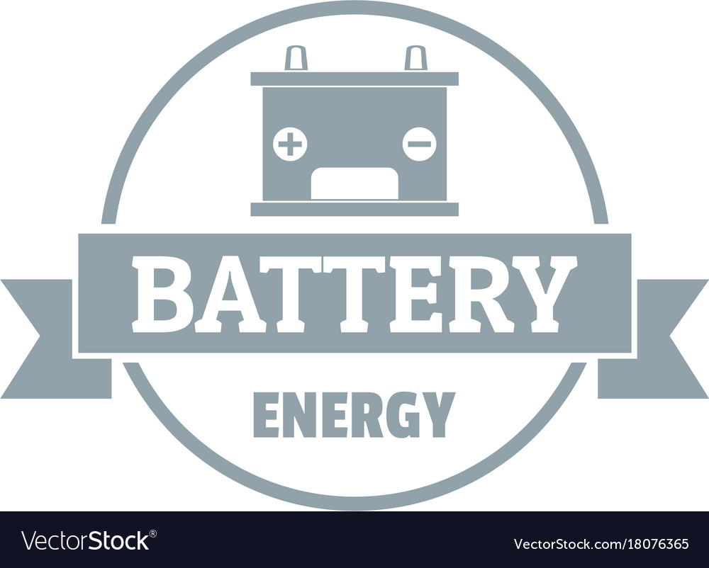 car battery logo simple gray style royalty free vector image vectorstock