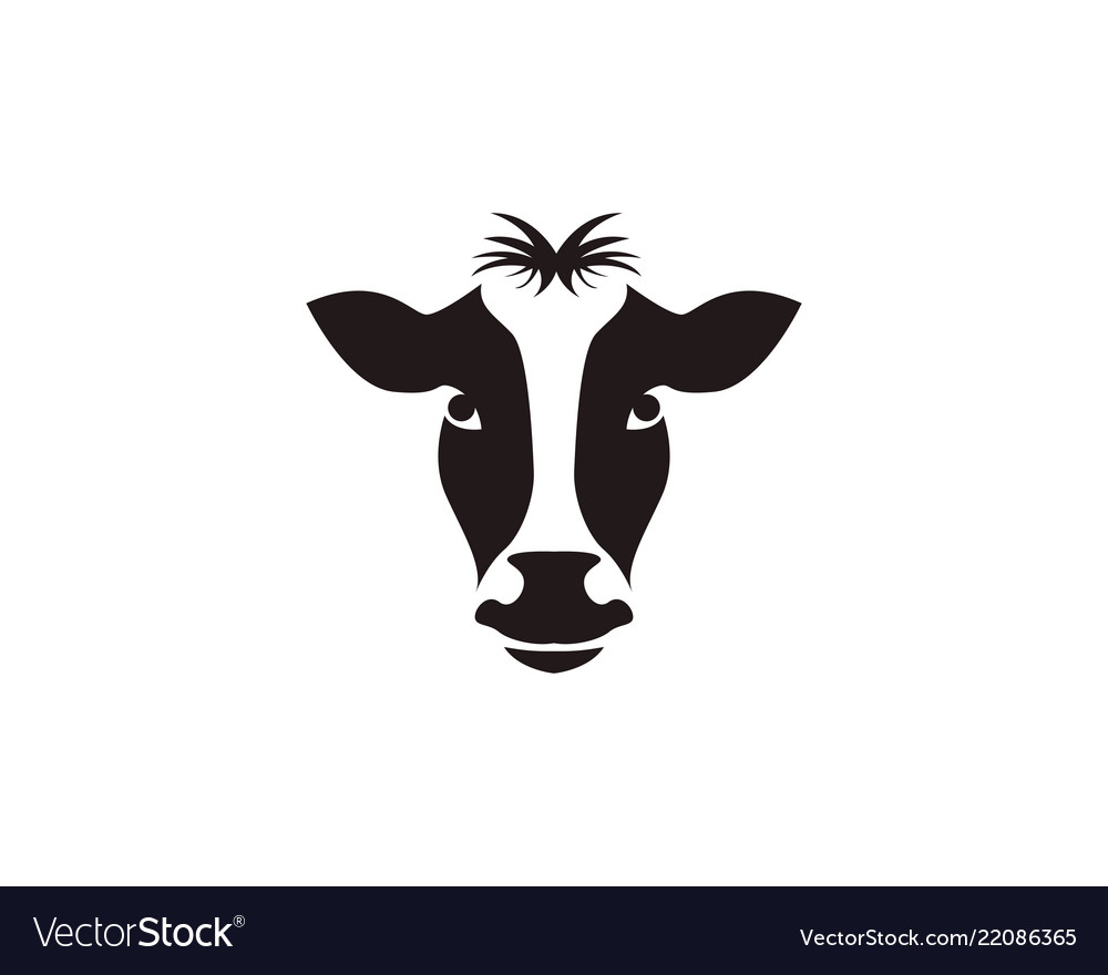 cow head symbols and logo template royalty free vector image