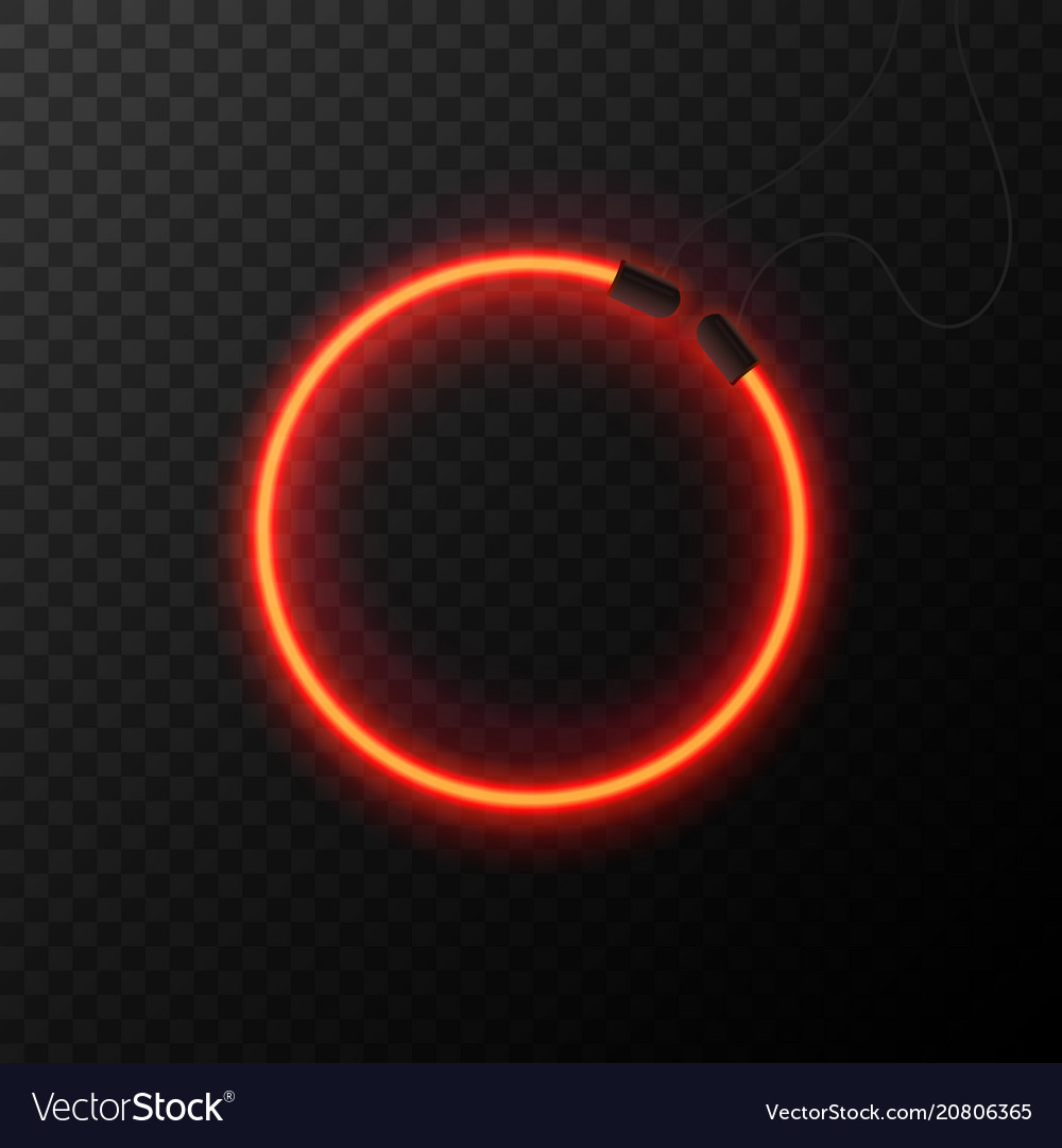 Glowing neon effect shining abstract circle