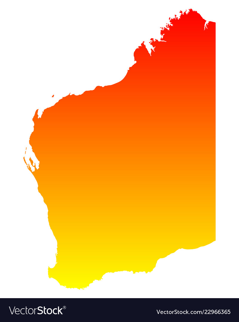 Australia Map Vector Ai.Map Of Western Australia