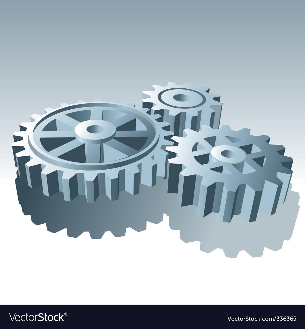Metal operation gears vector image