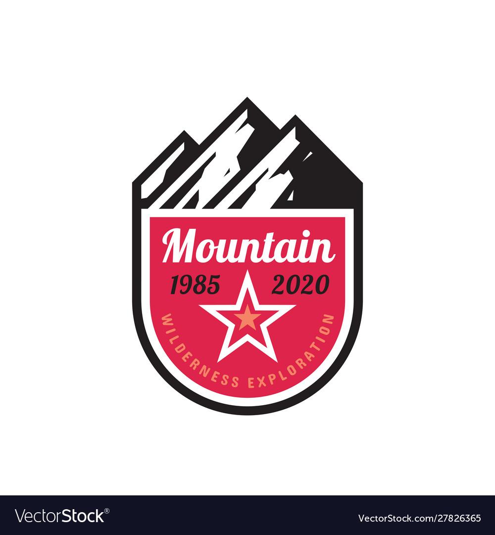 Mountain adventure - concept badge design