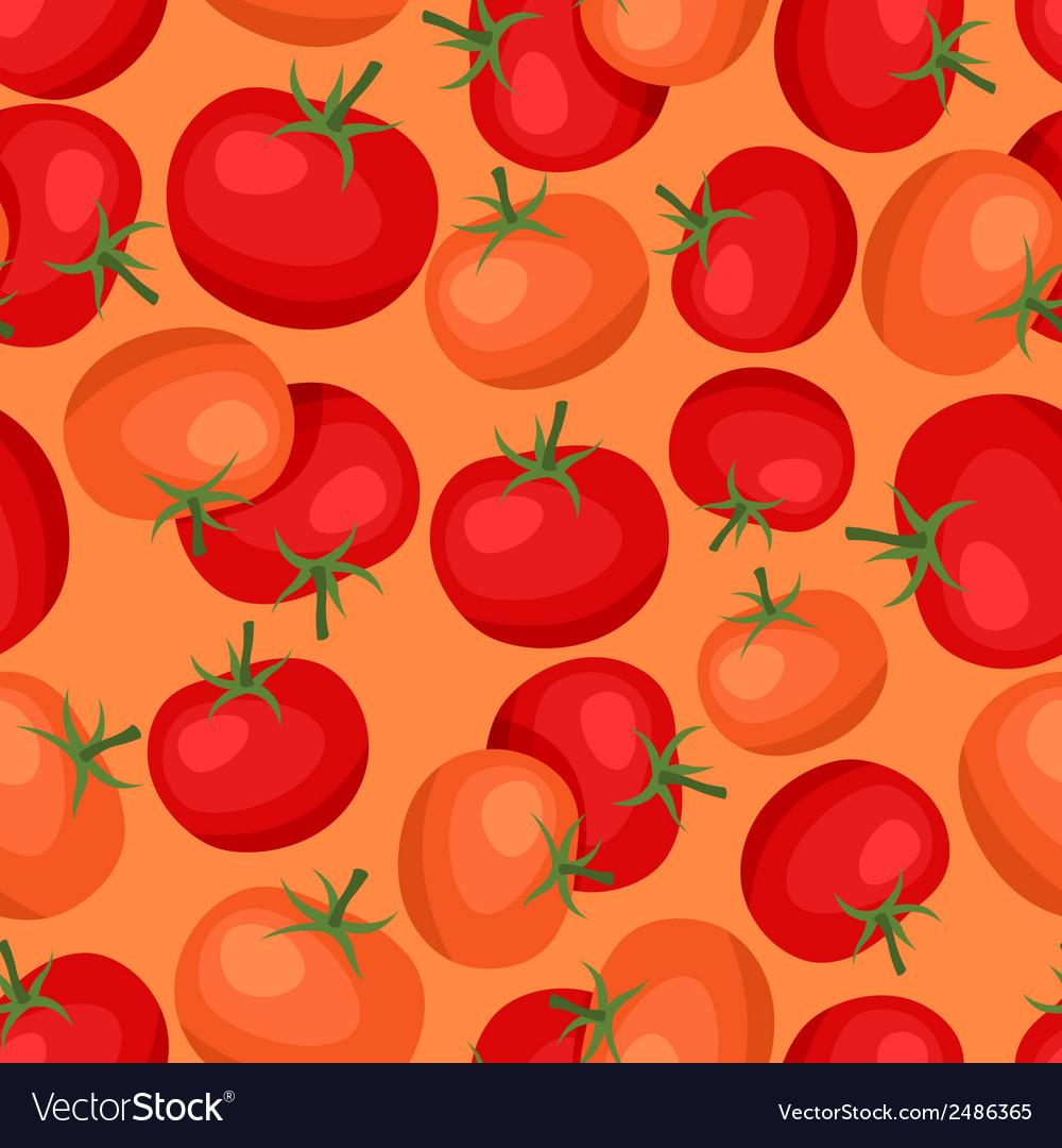 Seamless pattern with fresh ripe tomatoes