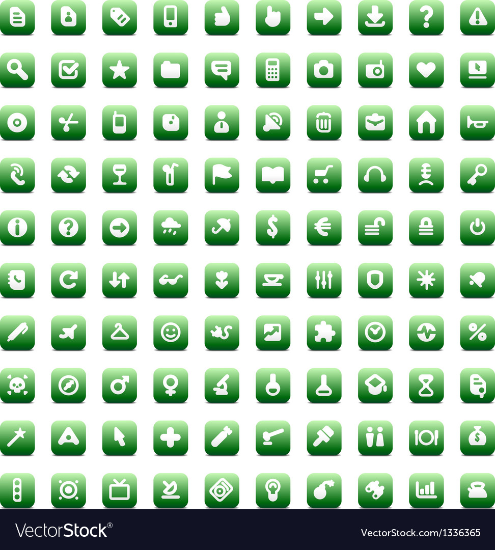 Set of 100 icons for web