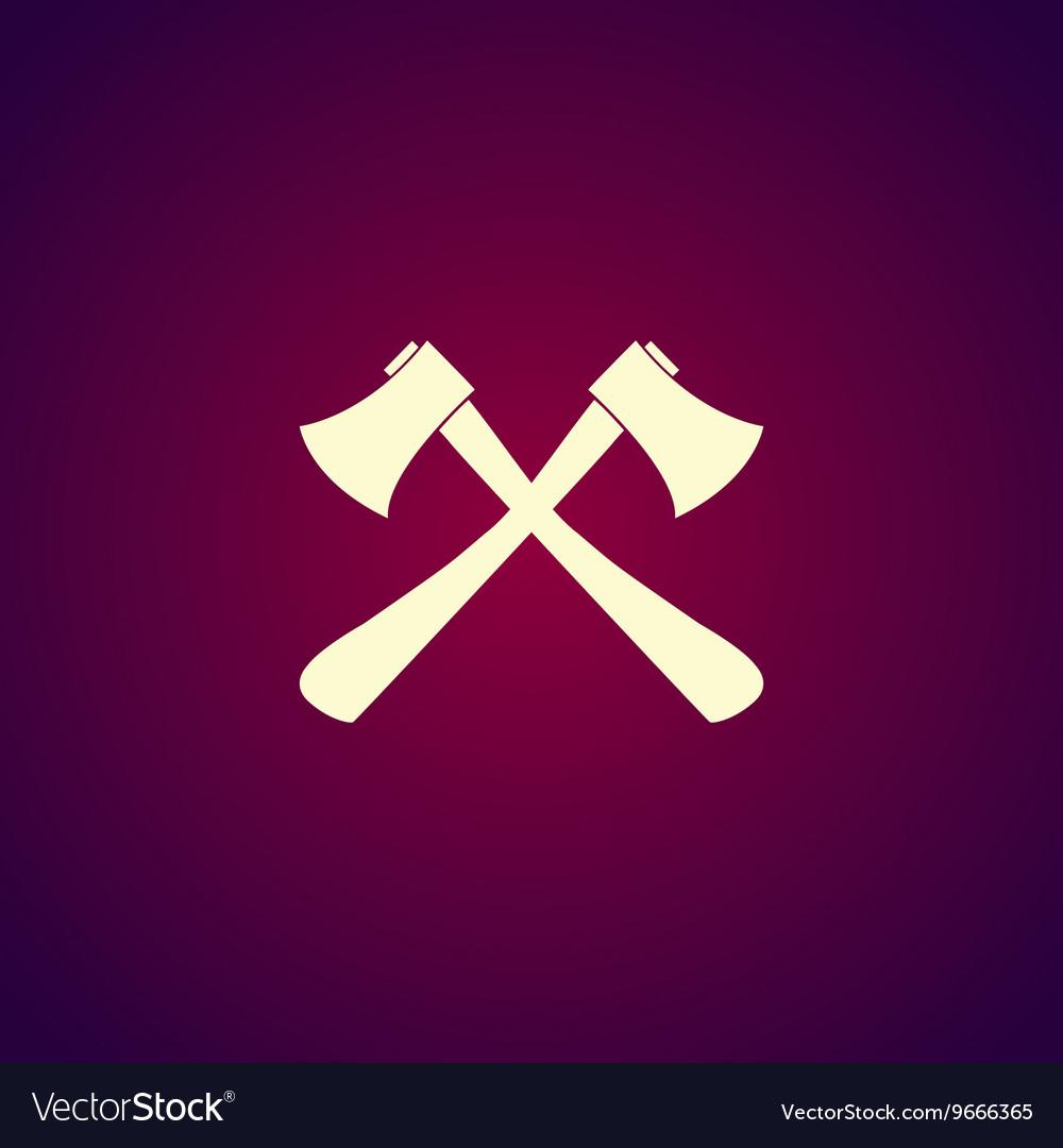 The ax icon Axe symbol vector image