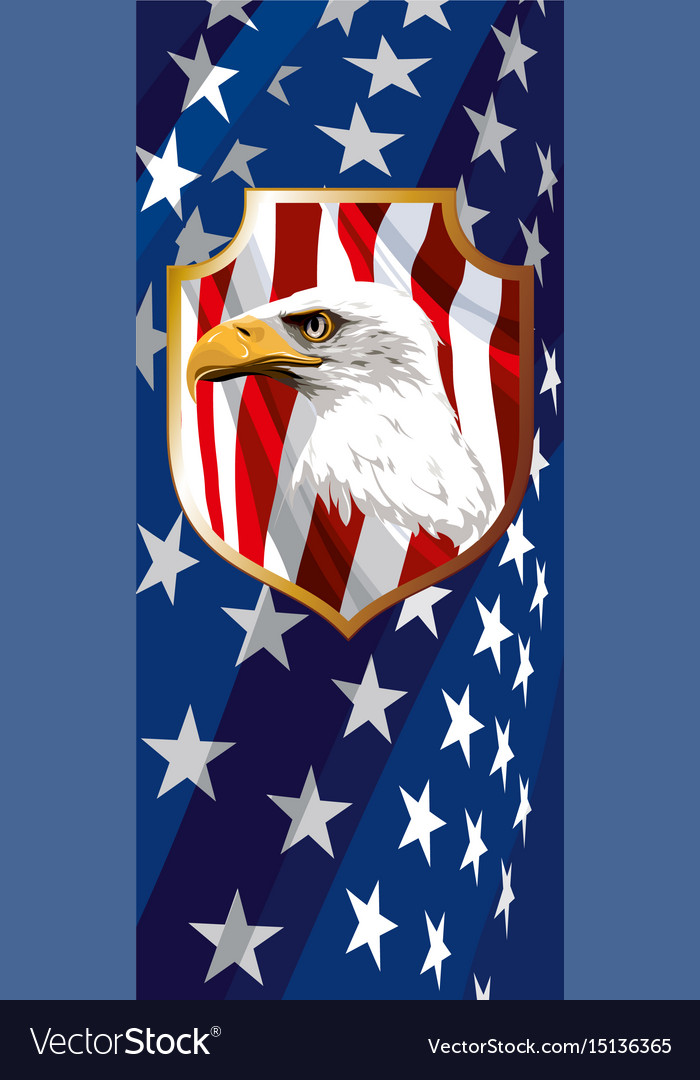 The National Symbol Of The Usa Royalty Free Vector Image