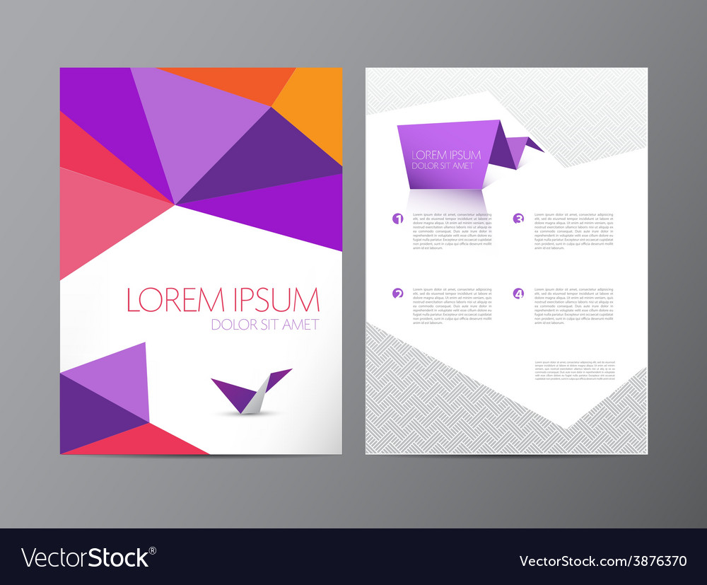 Abstract modern flyer brochure design vector image