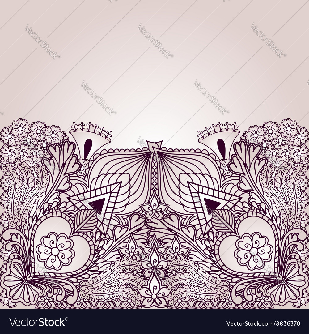 Background with elements of tribal style designs