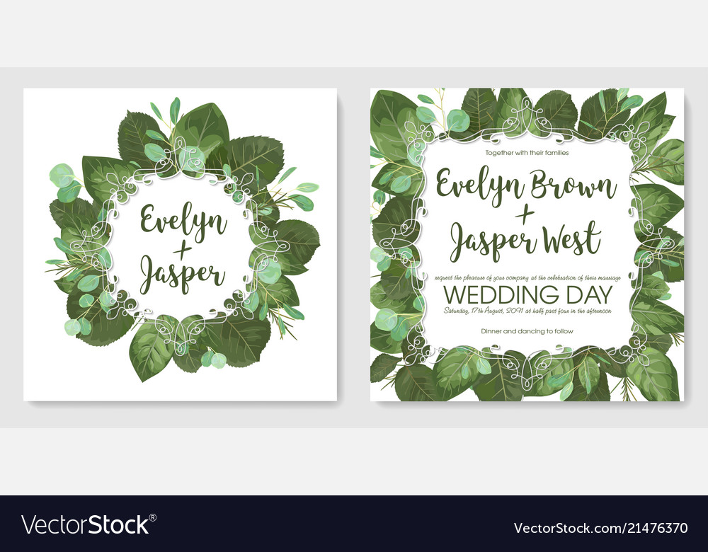 Beautiful set romantic spring cards banner