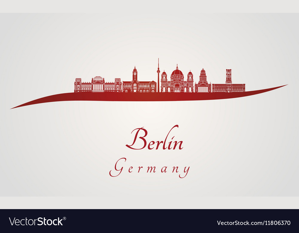 Berlin V2 skyline in red