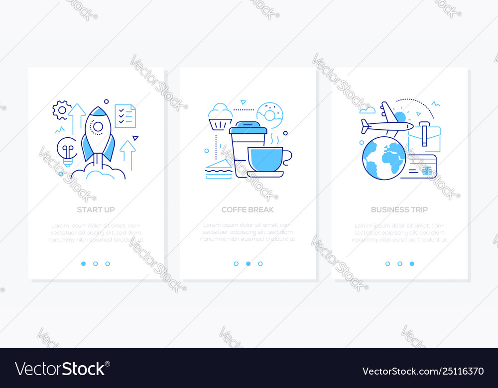 Business and finance - set line design style