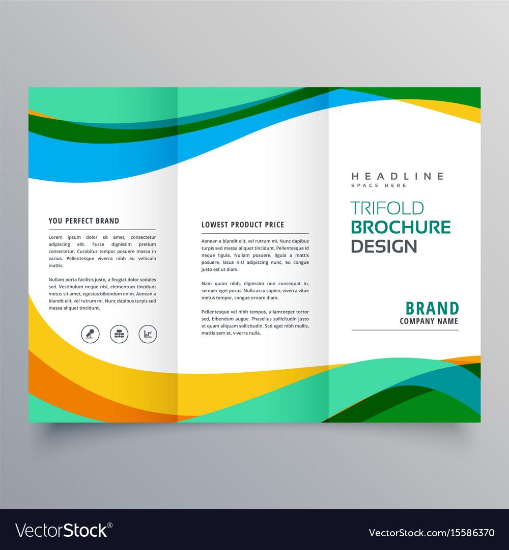 creative trifold business brochure design template