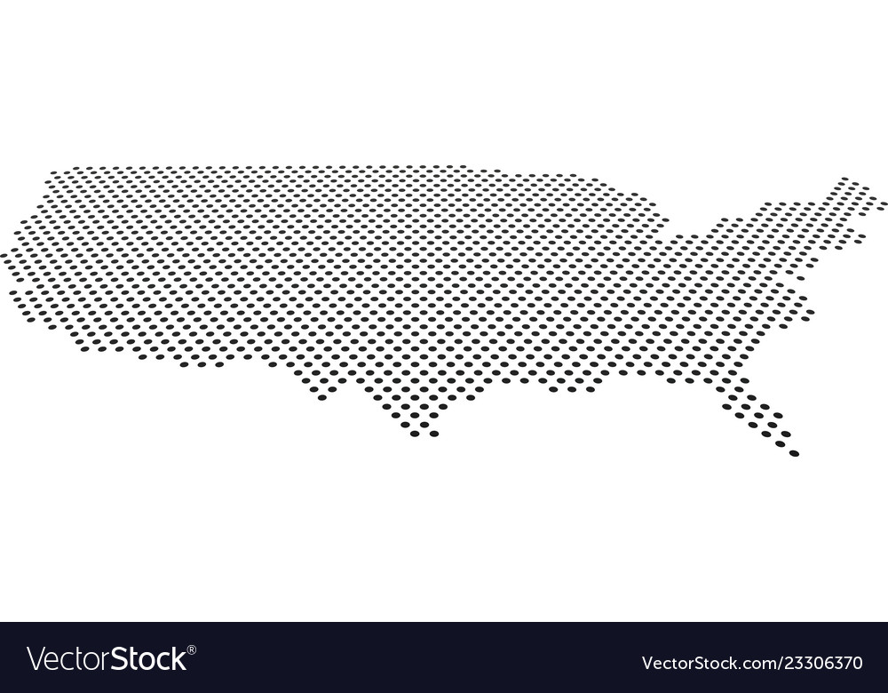 Doted usa map perspective