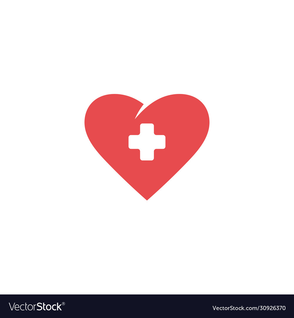 Heart icon design template isolated