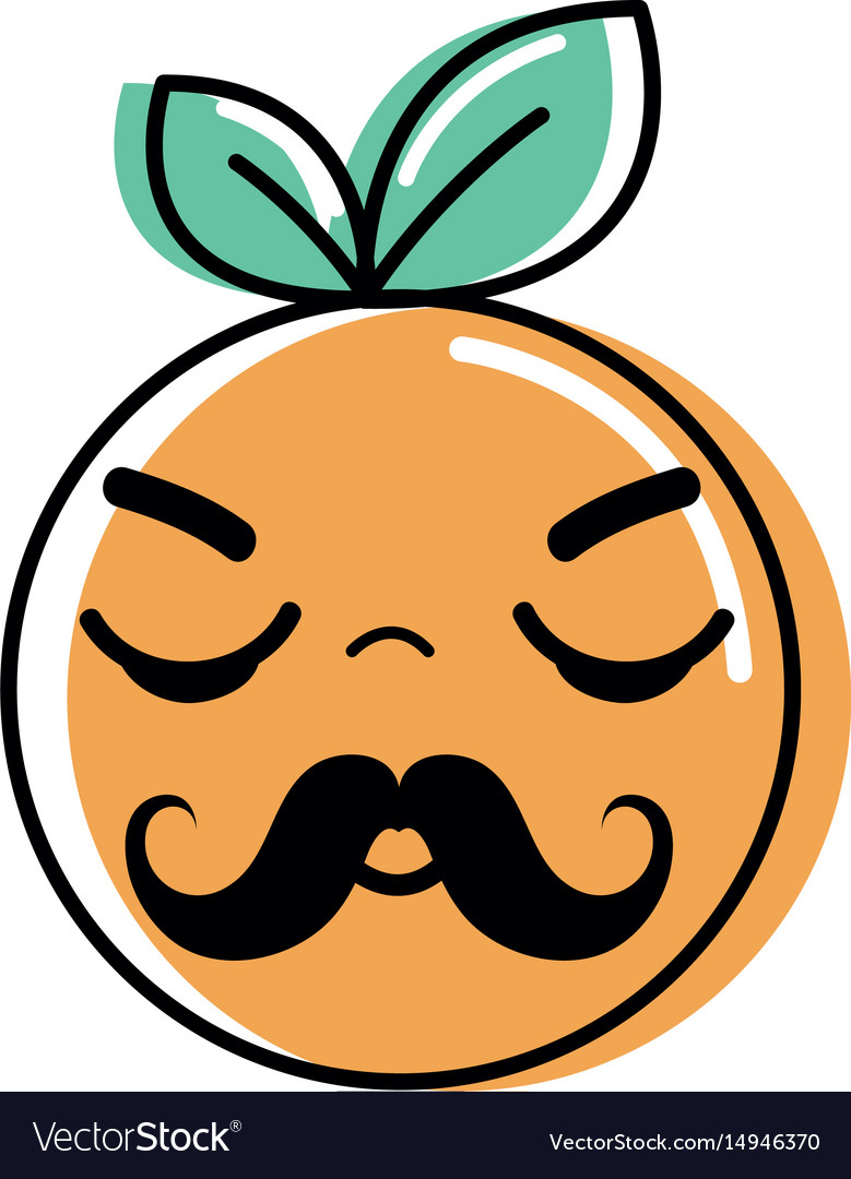 Kawaii nice sleeping orange fruit vector image