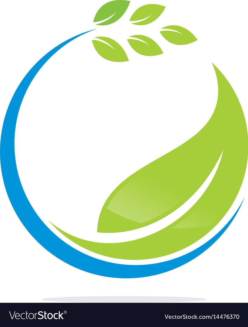 Leaf logo and abstract organic leaf logo