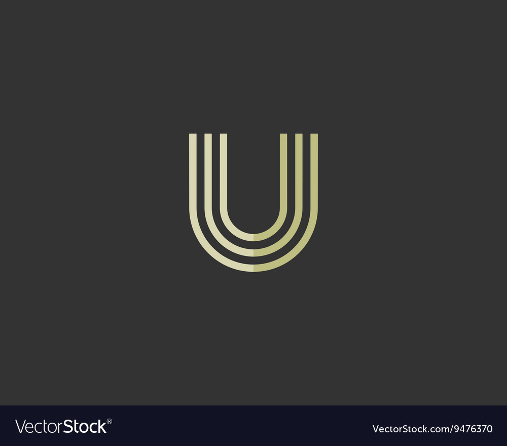Line letter u logotype Abstract moving airy logo