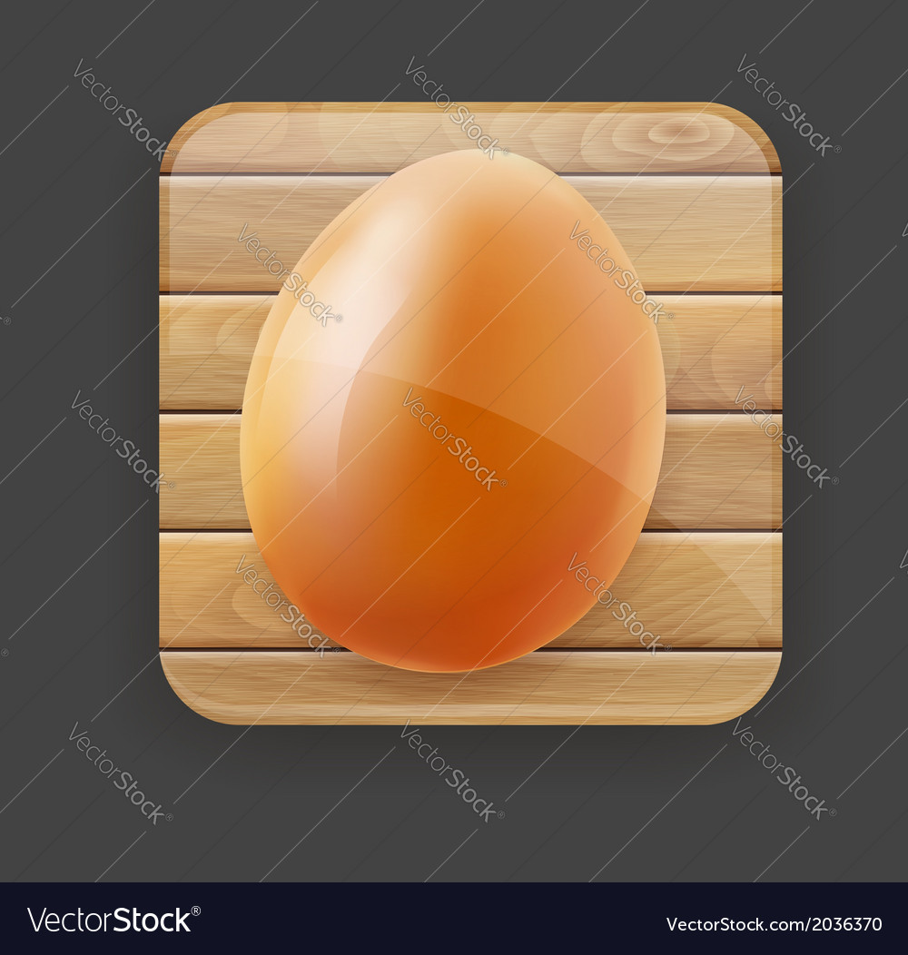 Wooden icon and egg