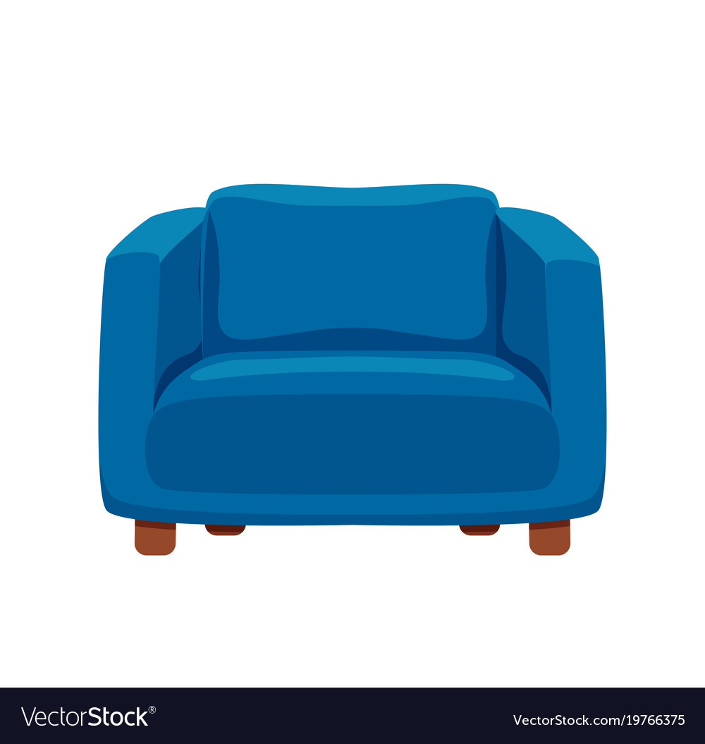 Armchair Colorful Cartoon Royalty Free Vector Image