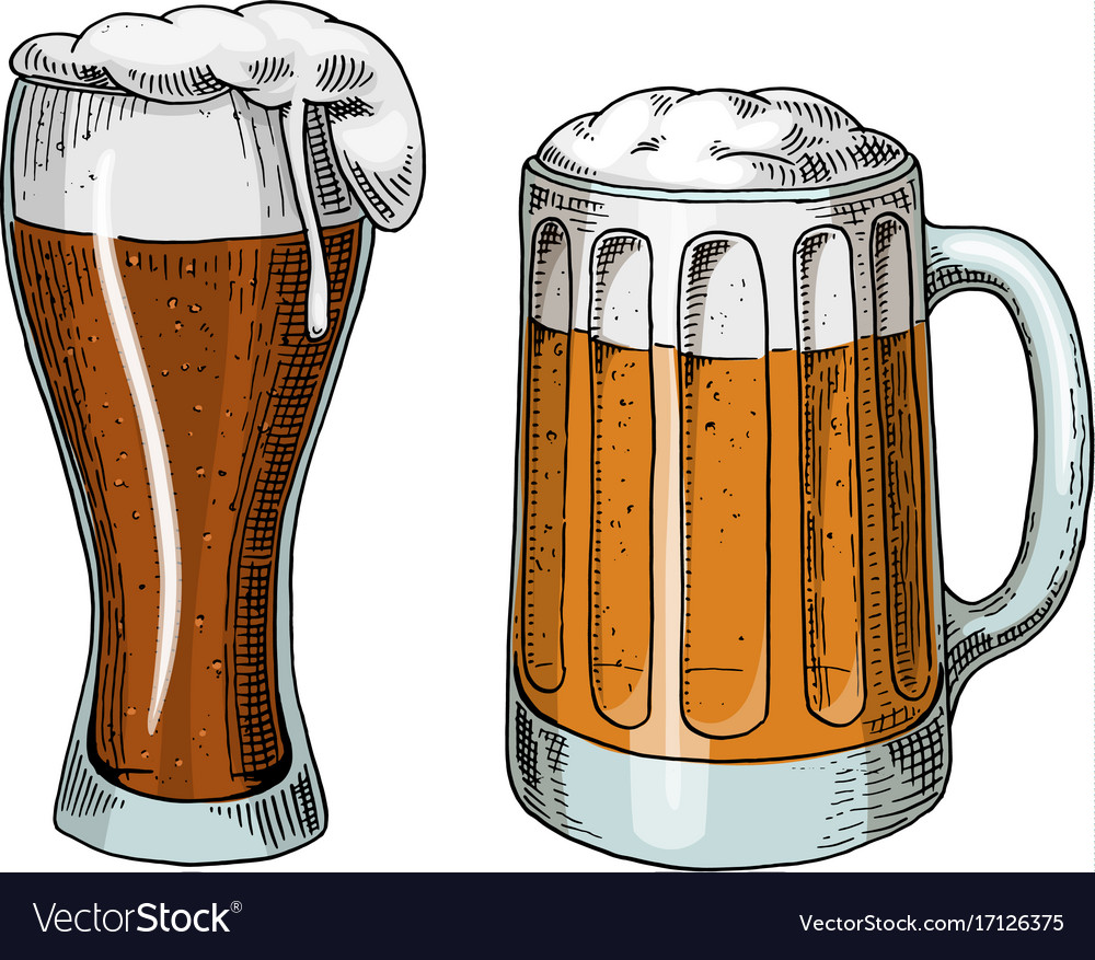 Beer glass mug or bottle of oktoberfest engraved