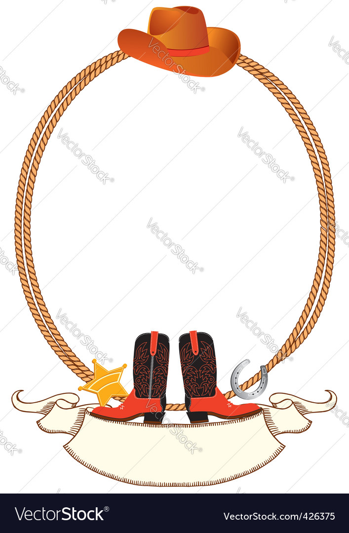 Cowboy rope frame Royalty Free Vector Image - VectorStock