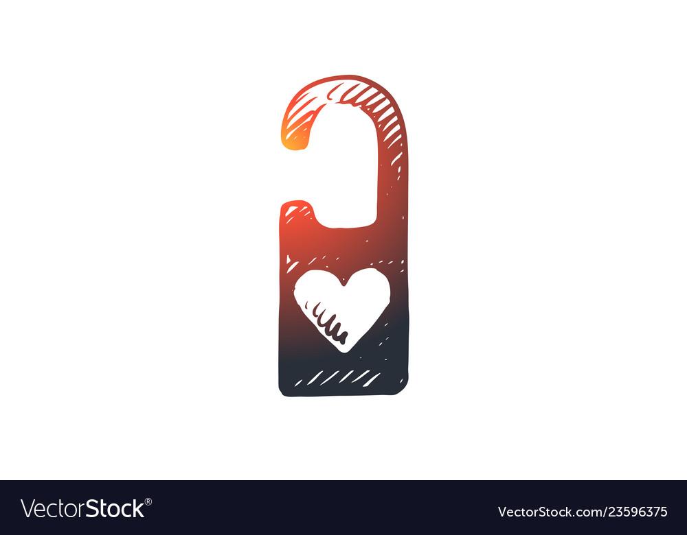 Passion padlock love romantic heart concept