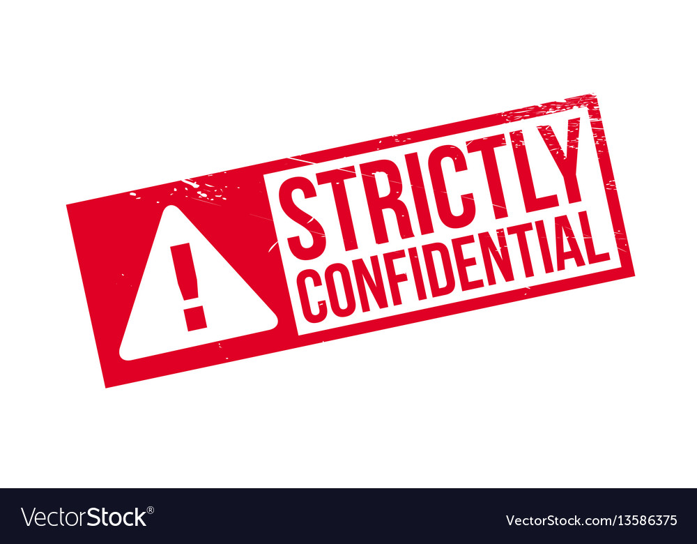 Strictly Confidential Rubber Stamp Vector Image