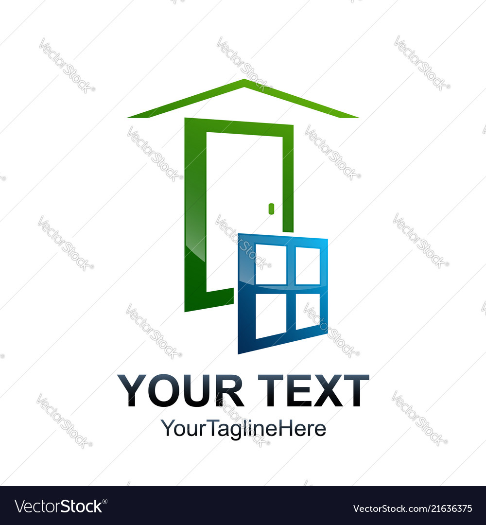 Window logo template abstract windows and glass
