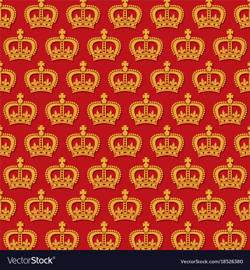 Background pattern with royal crowns