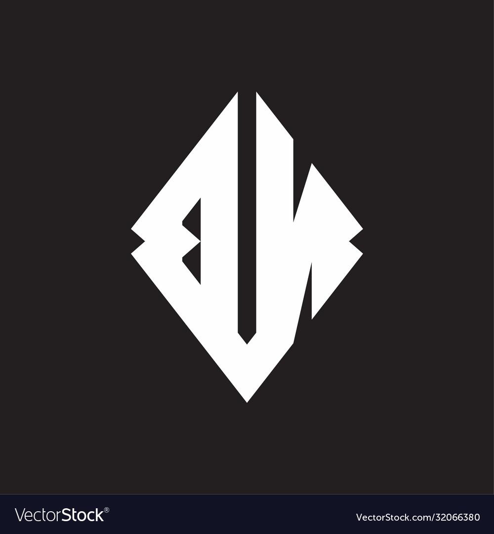 Bn Logo Monogram With Sharp Square Design Template