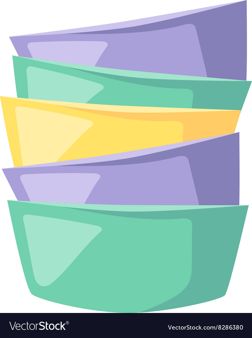 Bowls soup pile composition in merging color flat