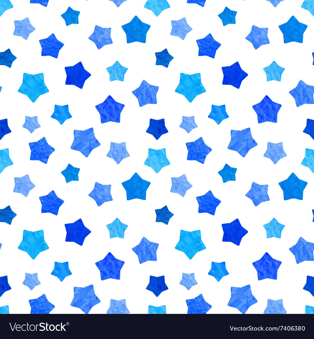 Bright blue watercolor stars background can be