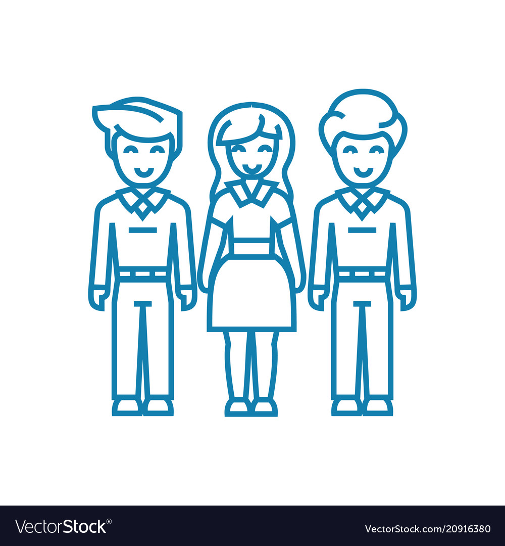 Family bonds linear icon concept family bonds
