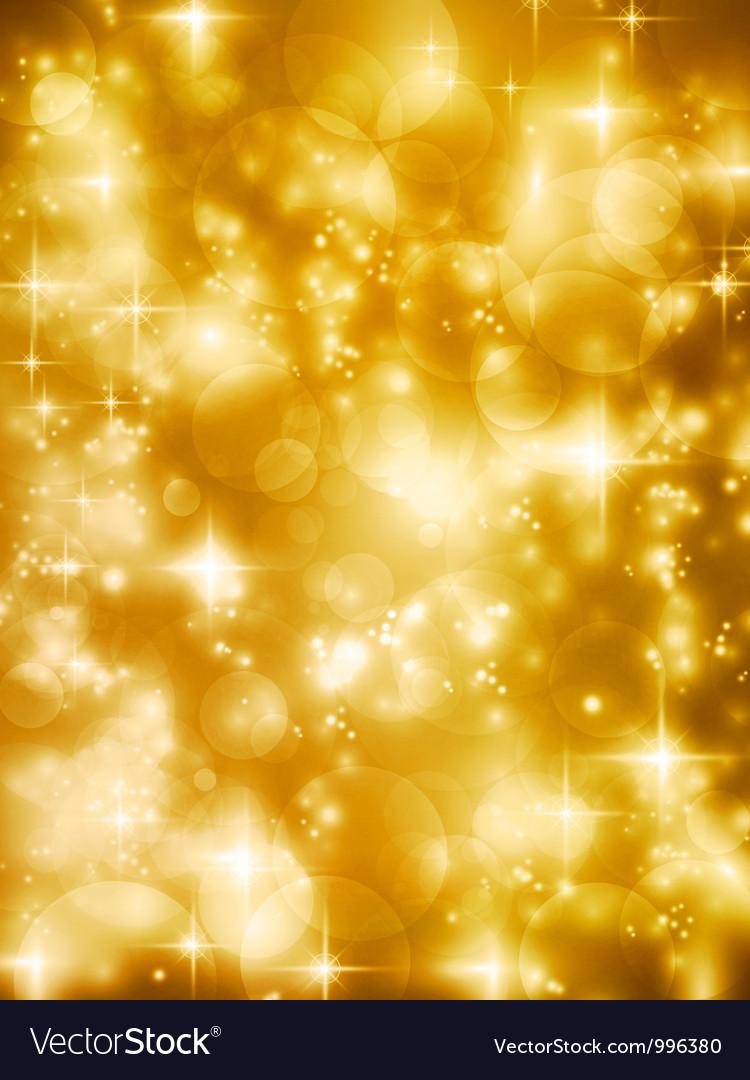 Festive golde bokeh lights background