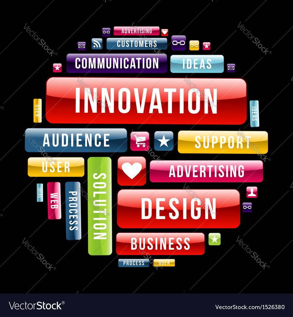 Innovation design concept circle vector image