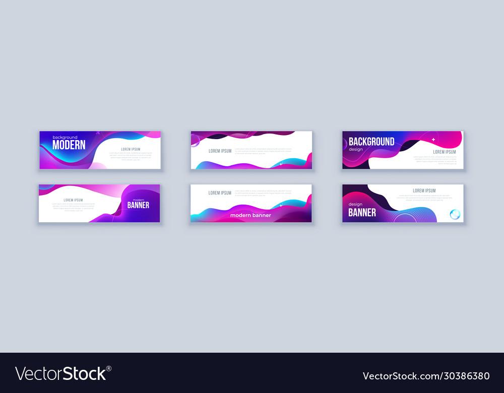 Liquid abstract banner design fluid shaped