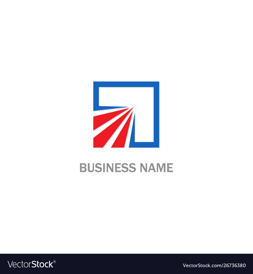 Square arrow abstract business logo