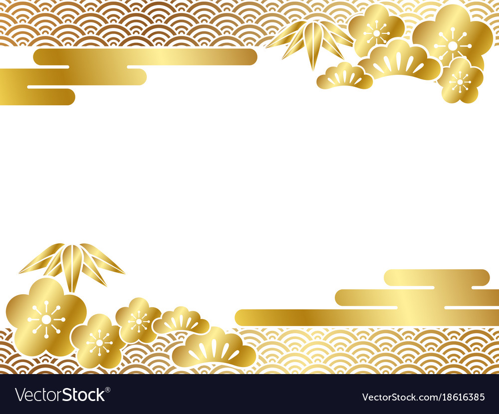 A japanese new years card template Royalty Free Vector Image