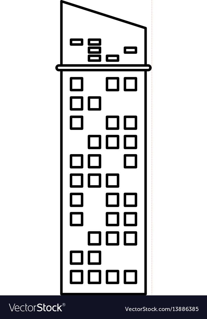 Building architecture skyscraper outline vector image
