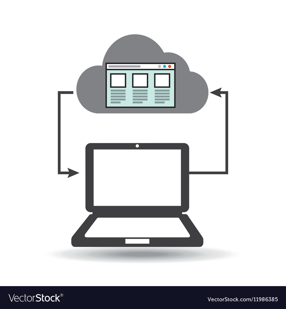Cloud computer connected web page