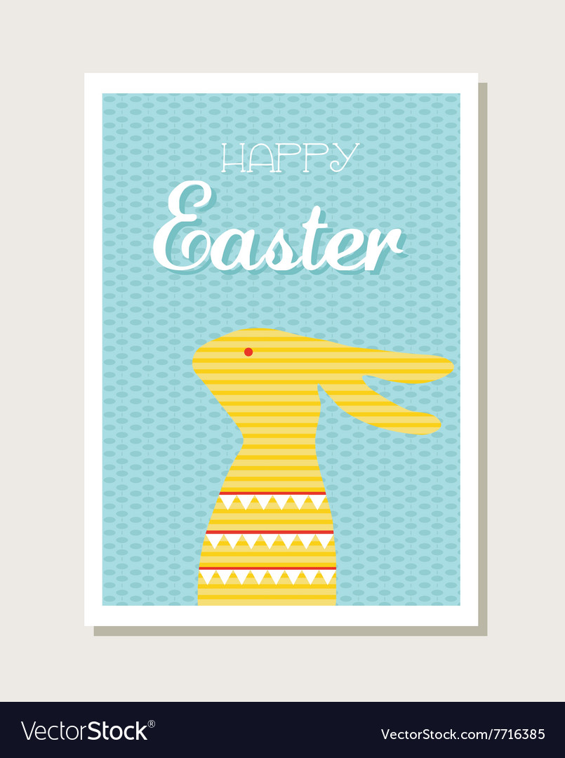 Easter design with cute bunny greeting card or