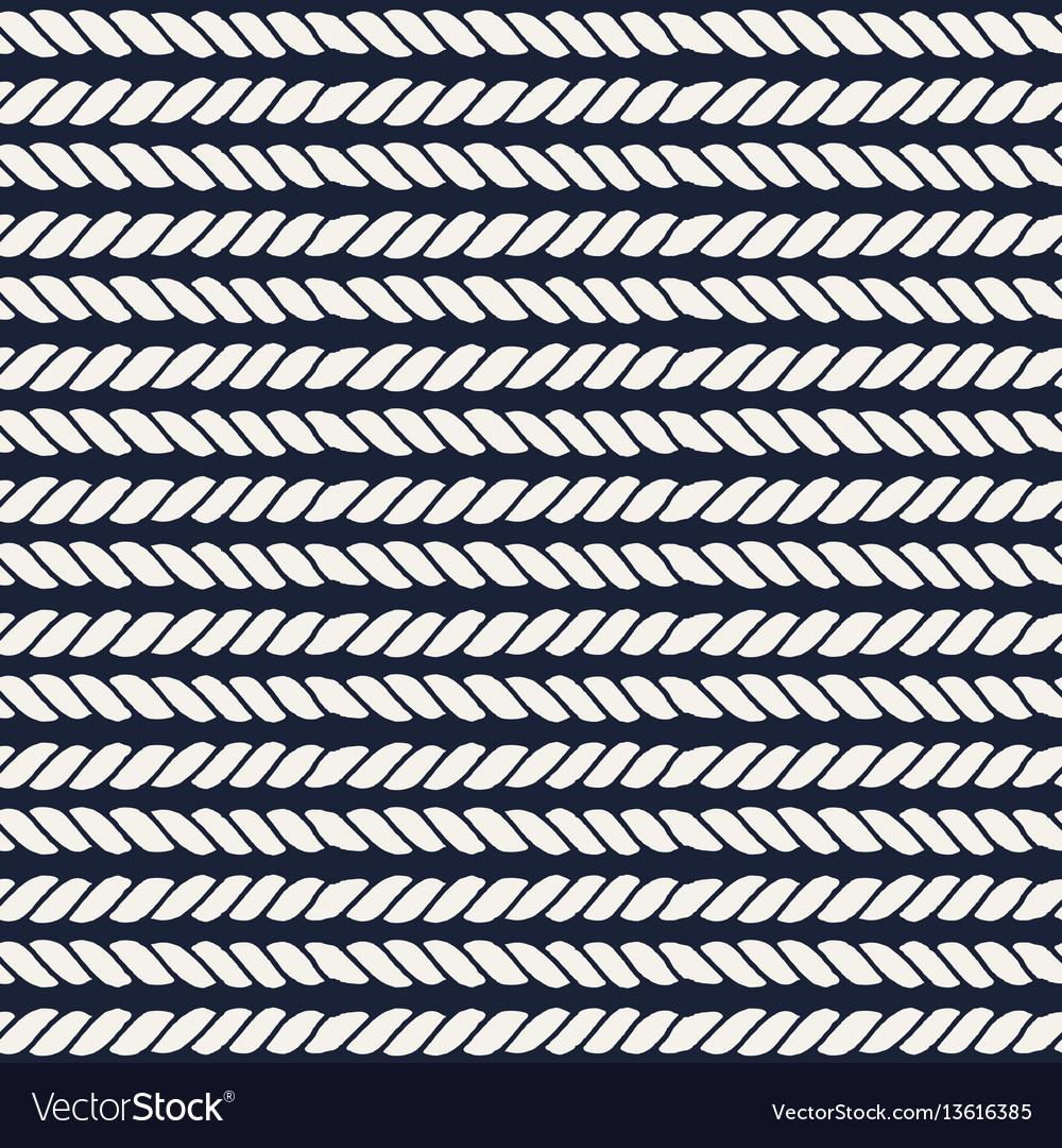 Marine rope line seamless pattern