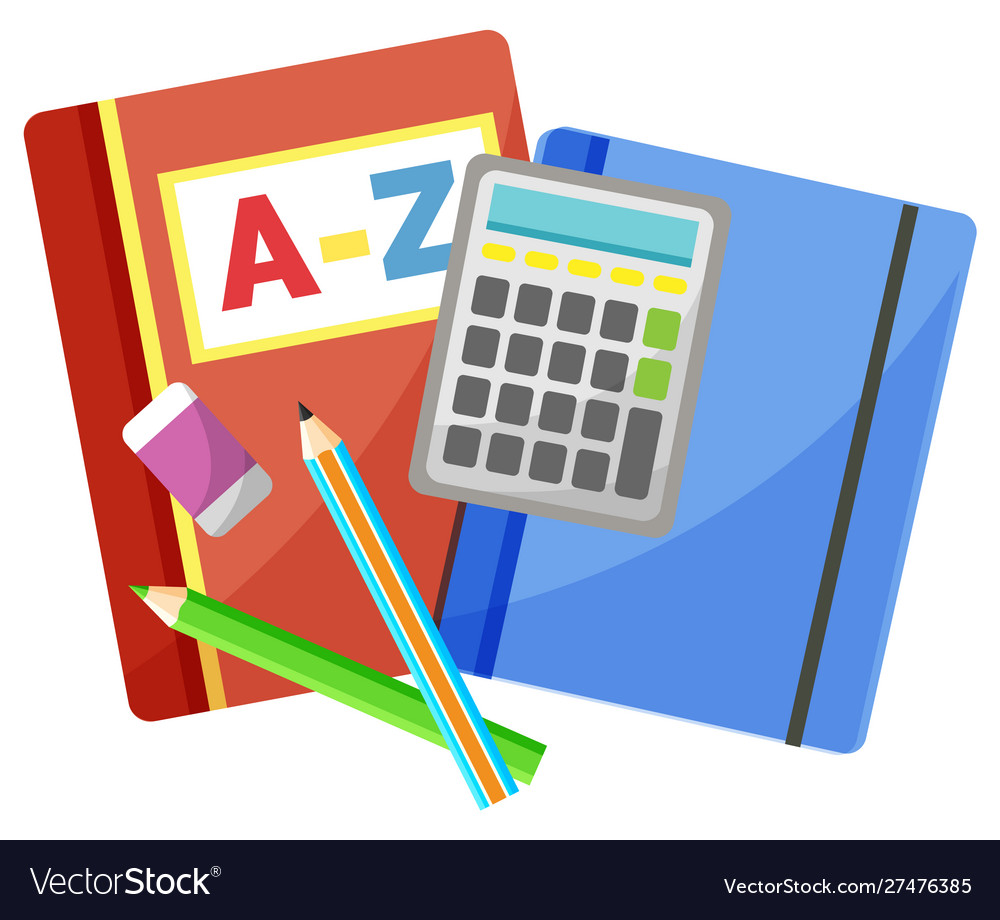 Office accessory notebook and calculator