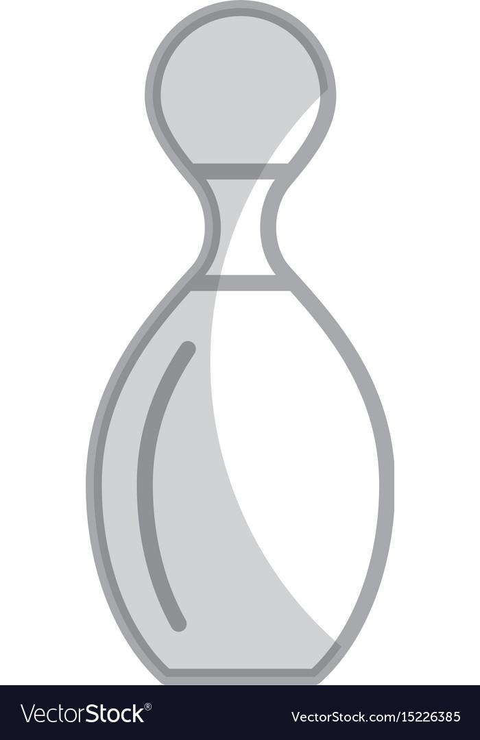 Shadow bowling pin cartoon vector image