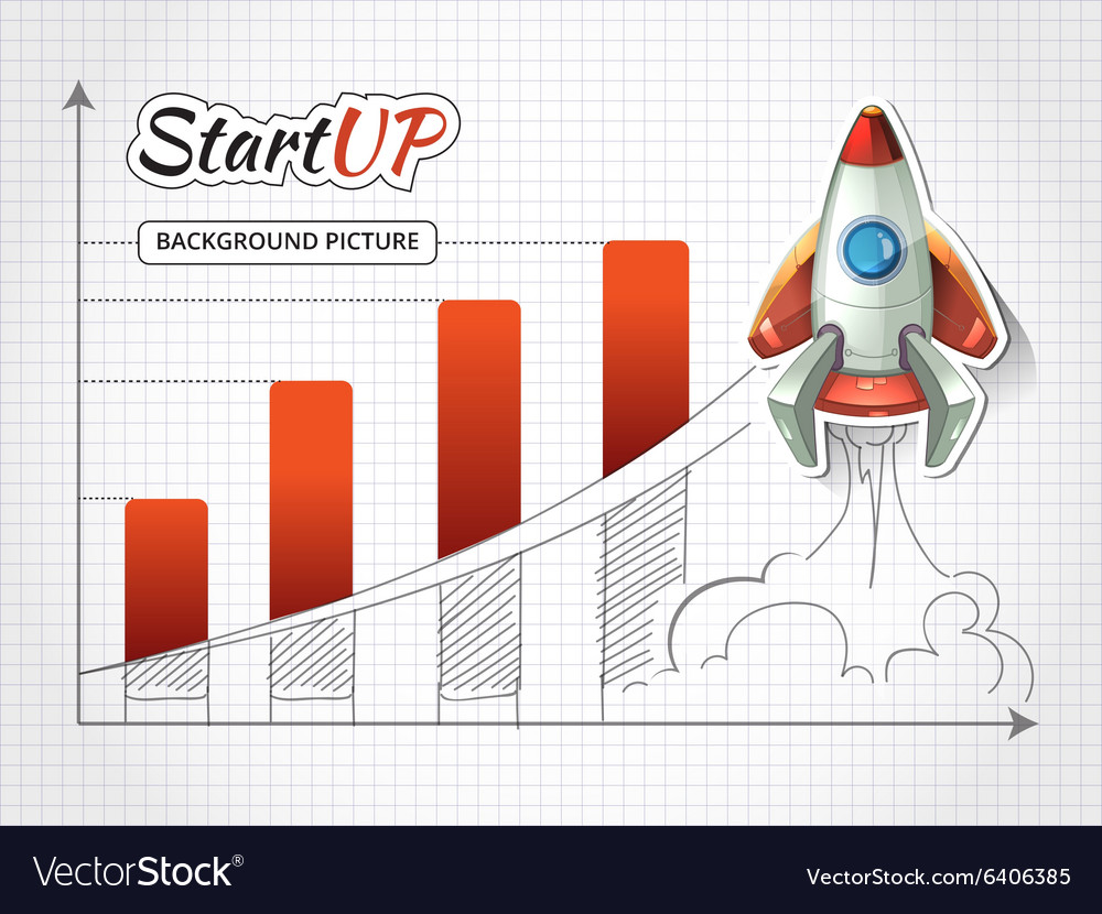 Start up new business project infographic with vector image