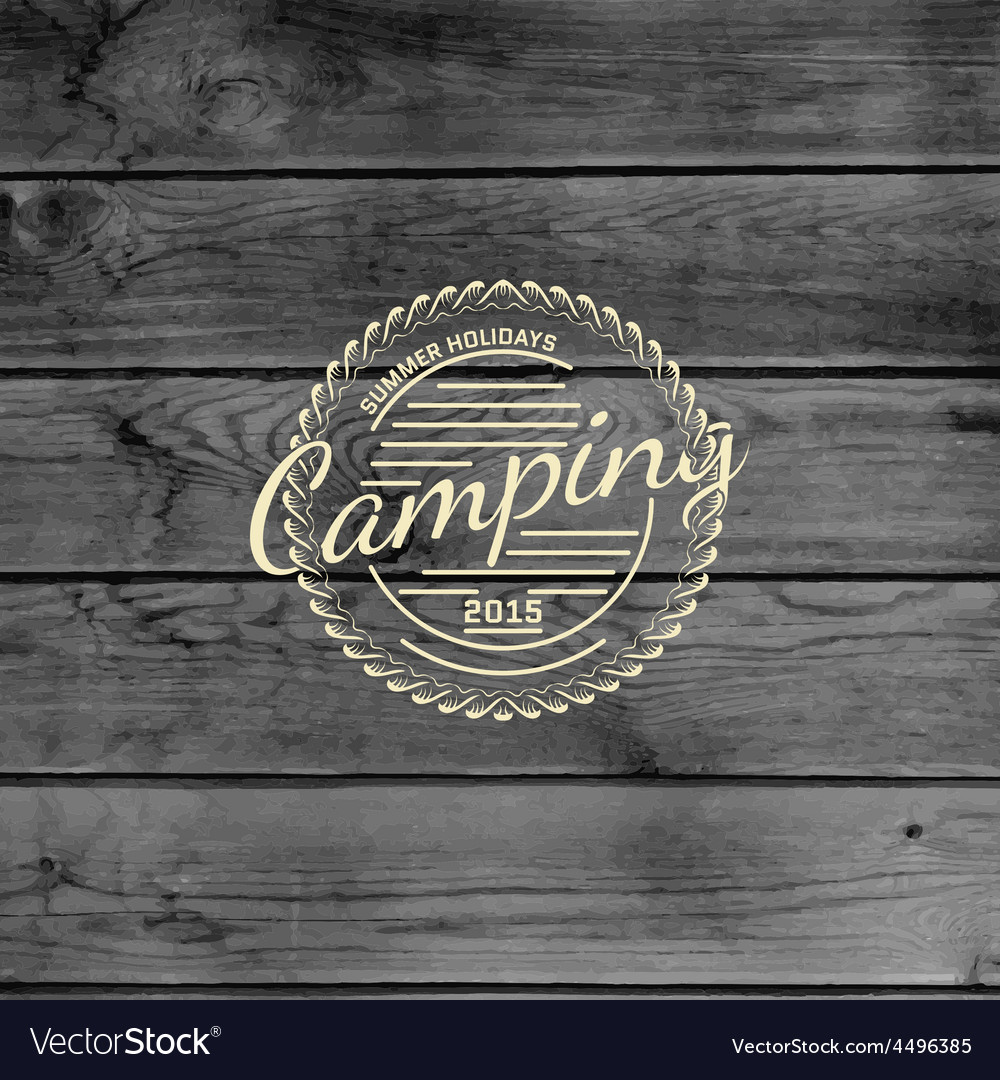 Summer camp badges logos and labels for any use