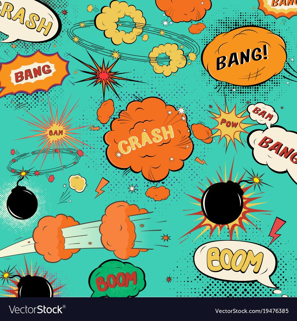 Template vintage comic speech bubbles